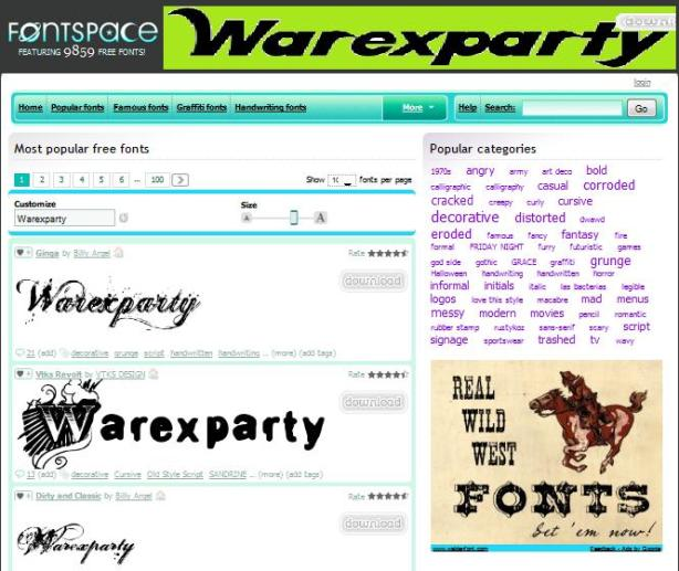 warexparty-fonts