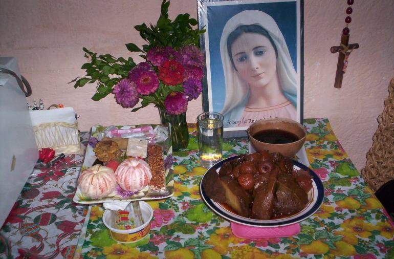 Pequeño altar en mi casa